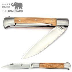 Thiers-Issard ISSOIRE DROIT - Olivenholz - Dorn - 12 cm Taschenmesser – Bild 2