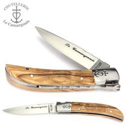 Le Camarguais - Griff Olivenholz - 10 cm Taschenmesser – Bild 1
