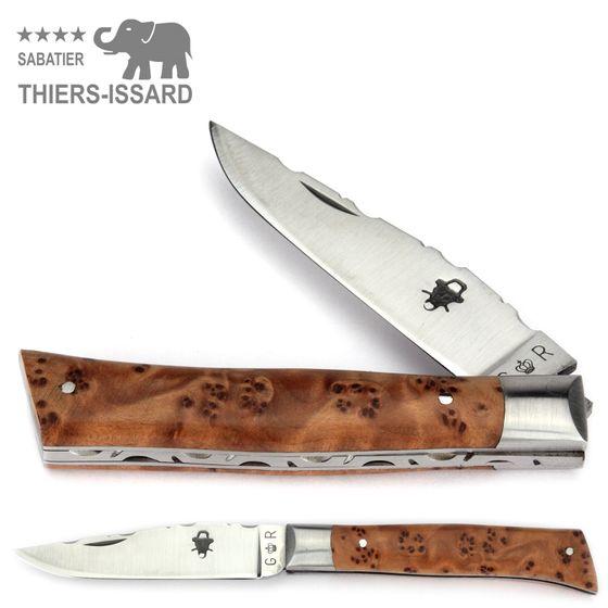 Thiers-Issard ALPIN - Griff Thuja Maserholz - 9 cm Taschenmesser – Bild 1