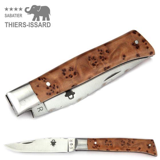 Thiers-Issard ALPIN - Griff Thuja Maserholz - 9 cm Taschenmesser – Bild 4