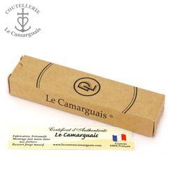 Le Camarguais 20074C - dunkles Widderhorn - ziselliete Platine - 12 cm Taschenmesser – Bild 6