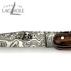 Forge de Laguiole Collection - 5000 Jahre alte Rinde von Mooreiche - Damast - 12 cm Taschenmesser – Bild 6