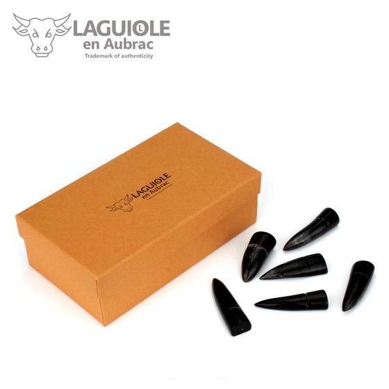 Laguiole en Aubrac - Messerbänkchen aus Büffelhorn - 6er Set – Bild 1