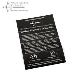Arbalete G. David Thiers - Mammut Elfenbein - Damastmesser - Zisellierte Platine - 12 cm Taschenmesser – Bild 8