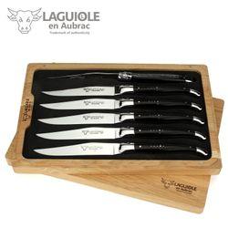 Laguiole en Aubrac - Sechs Steakmesser - Ebenholz – Bild 1