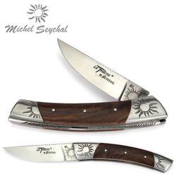 Michel Seychal Thiers BELEN - Griff Walnussholz - 12 cm Taschenmesser – Bild 1