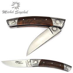 Michel Seychal Thiers BELEN - Griff Walnussholz - 12 cm Taschenmesser – Bild 2