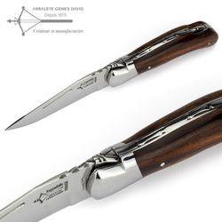 Laguiole Arbalete G. David - Eisenholz - 12 cm Jagdmesser – Bild 3
