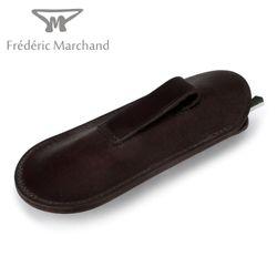 Fréderic Marchand - Nussbaum Maserholz - Klinge Brut de Forge XC75 Karbonstahl – Bild 7