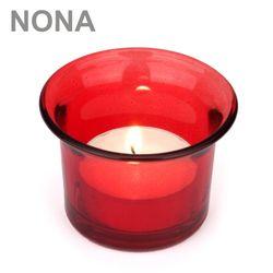 Set 9 NONA Teelicht-Gläser 4,5 cm - LILA - Teelichtglas Kerzenglas Kerzengläser Bild 2