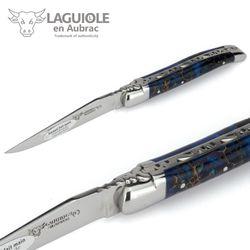 Laguiole en Aubrac - Zapfen in Acryl blau - 10 cm Taschenmesser – Bild 3