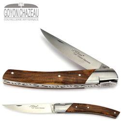 Goyon-Chazeau Le Thiers Pirou - Pistazienholz - 12 cm Taschenmesser – Bild 1