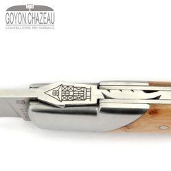 Goyon-Chazeau Le Thiers Pirou - Wacholder - 12 cm Taschenmesser – Bild 6