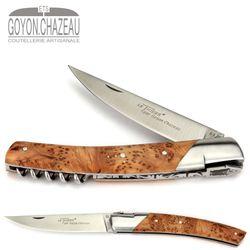 Goyon-Chazeau Le Thiers Pirou - Wacholder-Holz - Korkenzieher - 12 cm Taschenmesser – Bild 1