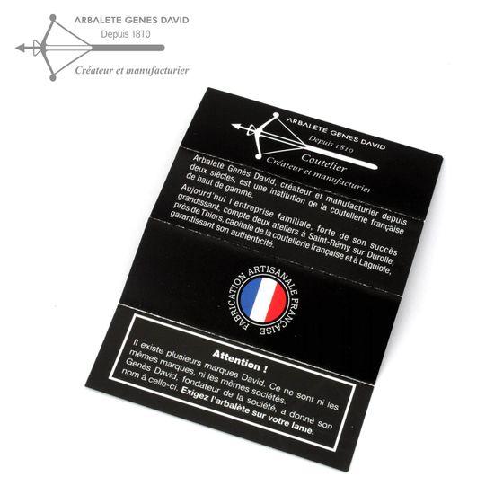 Laguiole Arbalete G. David - Voller Ebenholz Griff - Stahl Vintage - 12 cm Jagd Taschenmesser – Bild 6