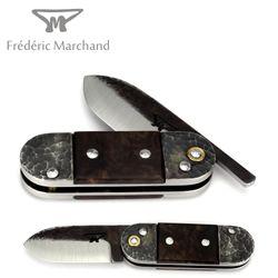 Fréderic Marchand - Nussbaum Wurzel - Klinge Brut de Forge - XC75 Karbonstahl – Bild 1