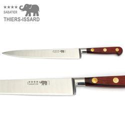 Thiers Issard Sabatier Küchenmesser Set - 5teilig - Griff Staminaholz Rot – Bild 4