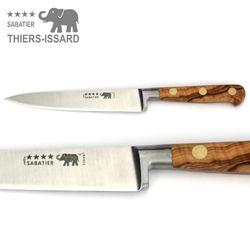 Thiers-Issard Sabatier Aufschnittmesser - Griff Olivenholz - Klinge 15 cm – Bild 1