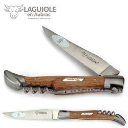 Laguiole en Aubrac Grand Cru Margaux - Weinfass Eichenholz - Korkenzieher - 12 cm Taschenmesser – Bild 1