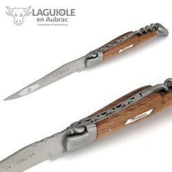 Laguiole en Aubrac Grand Cru Margaux - Weinfass Eichenholz - Korkenzieher - 12 cm Taschenmesser – Bild 3