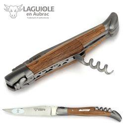 Laguiole en Aubrac Grand Cru Margaux - Weinfass Eichenholz - Korkenzieher - 12 cm Taschenmesser – Bild 6
