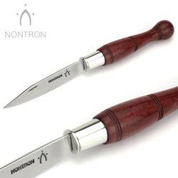 Nontron - Griff Amaranth - Virole Klingenarretierung - XC75 Carbonstahl - 12 cm Taschenmesser – Bild 3