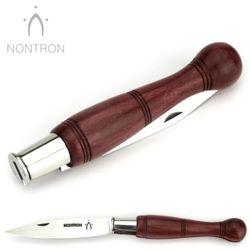 Nontron - Griff Amaranth - Virole Klingenarretierung - XC75 Carbonstahl - 12 cm Taschenmesser – Bild 4