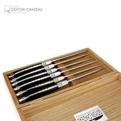 Goyon-Chazeau - Französische Steakmesser - Ebenholz - 6er Set – Bild 2