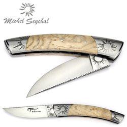Michel Seychal Thiers BELEN - Griff helle Esche - 12 cm Taschenmesser – Bild 2