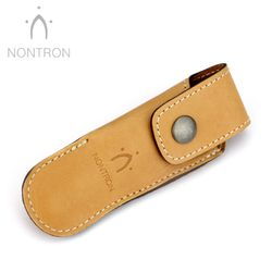 Nontron Gürtelteui - N 25 Boule - Leder braun - Für 12 cm Messer Griff KUGEL – Bild 1