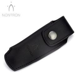 Nontron Gürtelteui - N 25 - Leder schwarz - Für 12 cm Messer Griff KEINE KUGEL – Bild 1