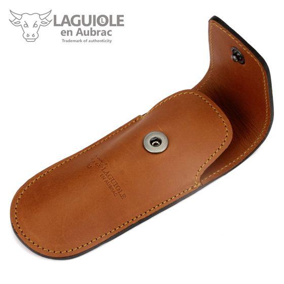Laguiole en Aubrac Gürteletui - braunes Leder - für Jagd-Taschenmesser – Bild 1