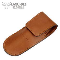 Laguiole en Aubrac Gürteletui - braunes Leder - für Jagd-Taschenmesser – Bild 2