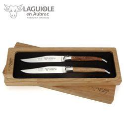 Laguiole en Aubrac - 2er Set Steakmesser - Griff Weinrebe 001