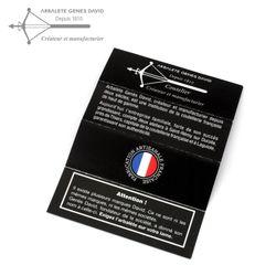 Arbalete G. David Thiers - Wacholder - zisellierte Platine - 12 cm Taschenmesser – Bild 6