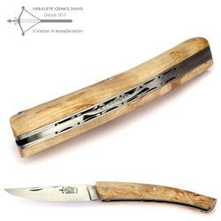 Arbalete G. David Thiers - Norwegische Birke - Doppelplatine - 12 cm Taschenmesser – Bild 5