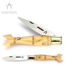 Nontron - Griff Buchsbaum - Klingenarretierung - XC75 Carbonstahl - 12 cm Taschenmesser – Bild 1