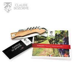 Claude Dozorme - Weinmesser Capucin Gérard Depardieu - Griff Olivenholz – Bild 10