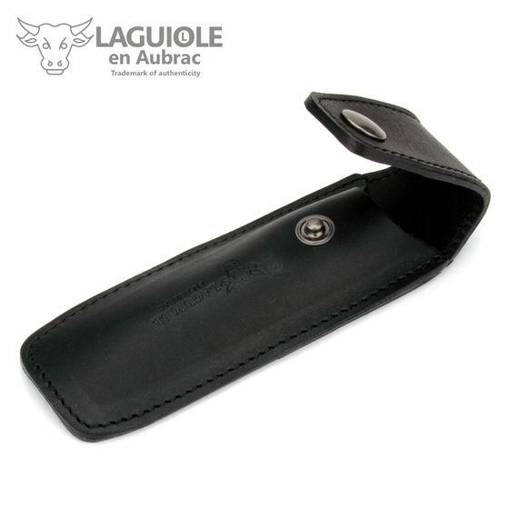 Laguiole en Aubrac Gürteletui - braunes Leder - für 13 cm Modell Droit – Bild 2
