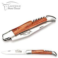 Honoré Durand Laguiole Messer - Griff Rosenholz - Korkenzieher - 12 cm Taschenmesser – Bild 4