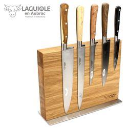 Laguiole en Aubrac Messerblock mit Kochmesser Set - 5 teilig - Griff gemischte Hölzer – Bild 1