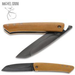 Michel Grini - Modell K-rambole Piémontais - Buchsbaum - Klinge Karbonstahl geätzt – Bild 2