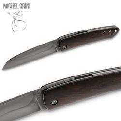 Michel Grini - Modell K-rambole Piémontais - Nussbaum - Klinge Karbonstahl geätzt – Bild 3
