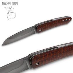 Michel Grini - Modell K-rambole Piémontais - Schlangenholz - Klinge Karbonstahl geätzt – Bild 3