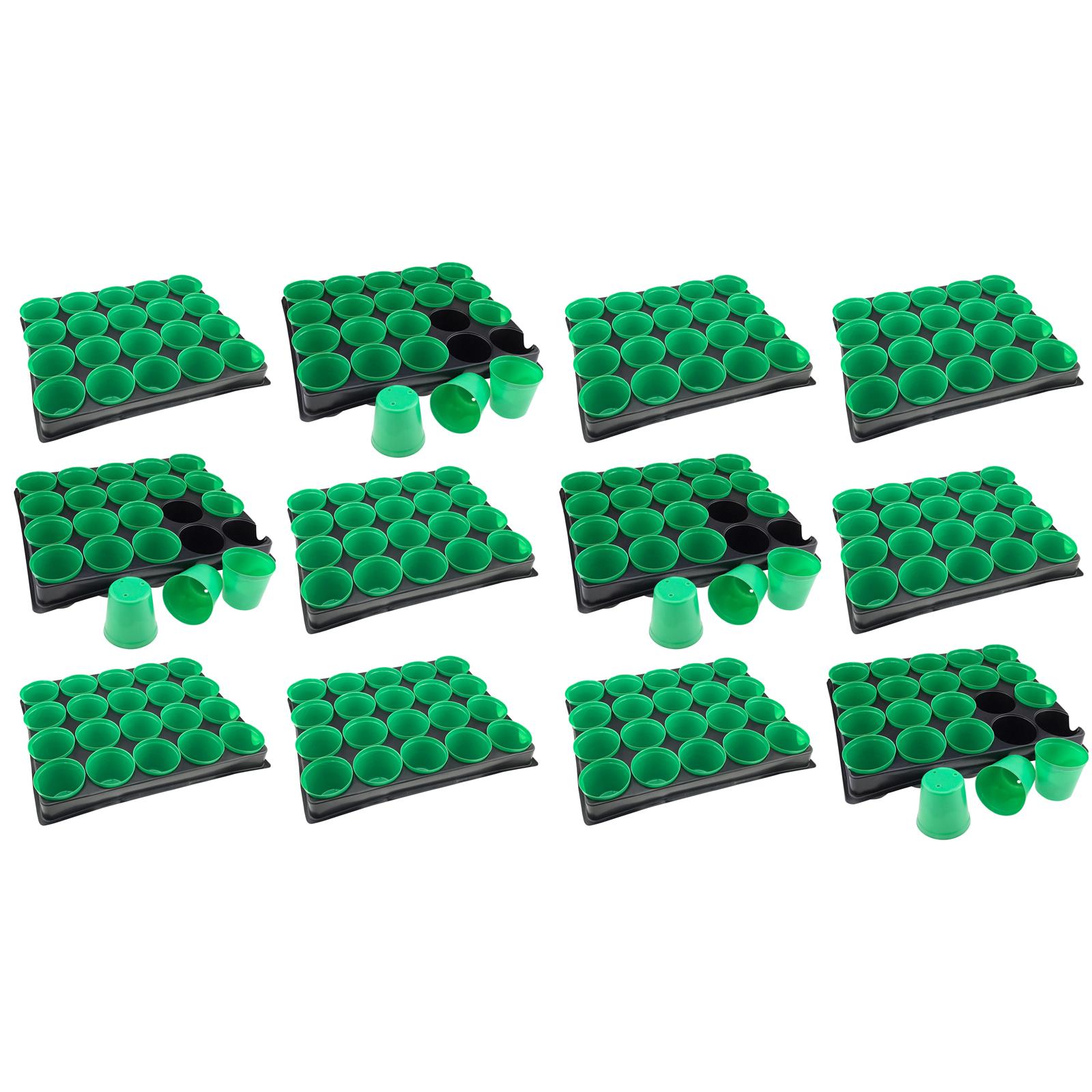 2 Anzuchtplatten mit 40 Anzuchttöpfen Saatschale Anzuchtschale Pikierplatte NEU