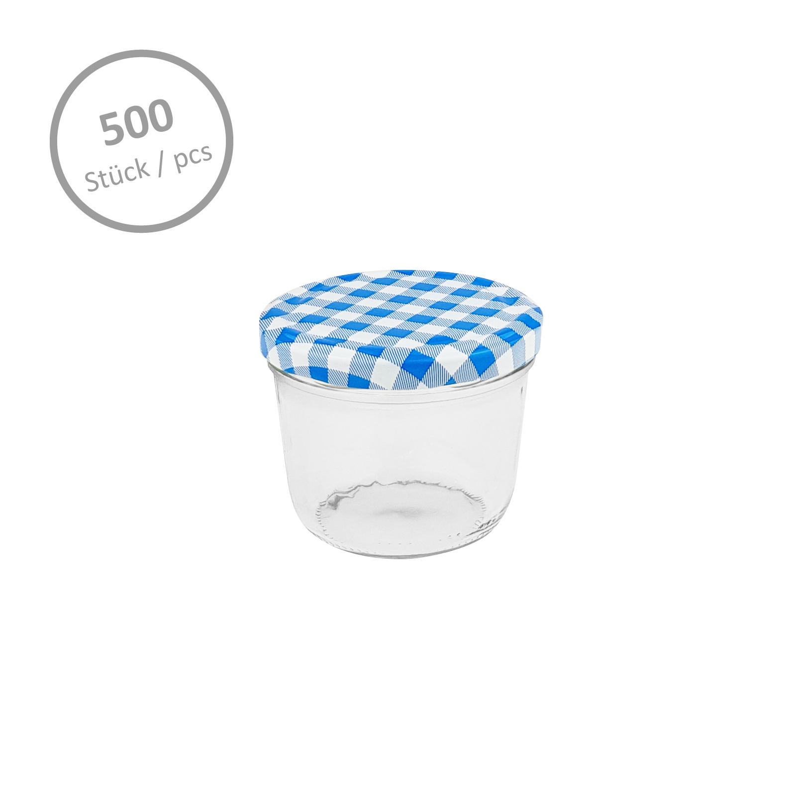 500 einmachgl ser 230 ml blau marmeladengl ser sturzglas. Black Bedroom Furniture Sets. Home Design Ideas