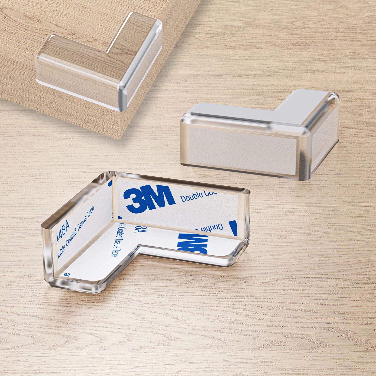 4 x  Silikon Eckenschutz Kantenschutz für Kinder Schutz Möbel Tisch Schutzkappen