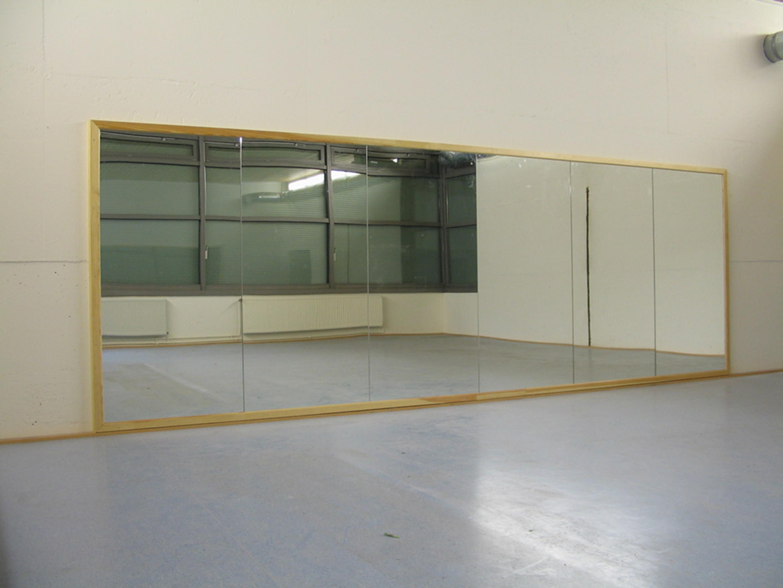 Ballettspiegelwand, 6,00 x 2,00 m komplett mit Rahmen