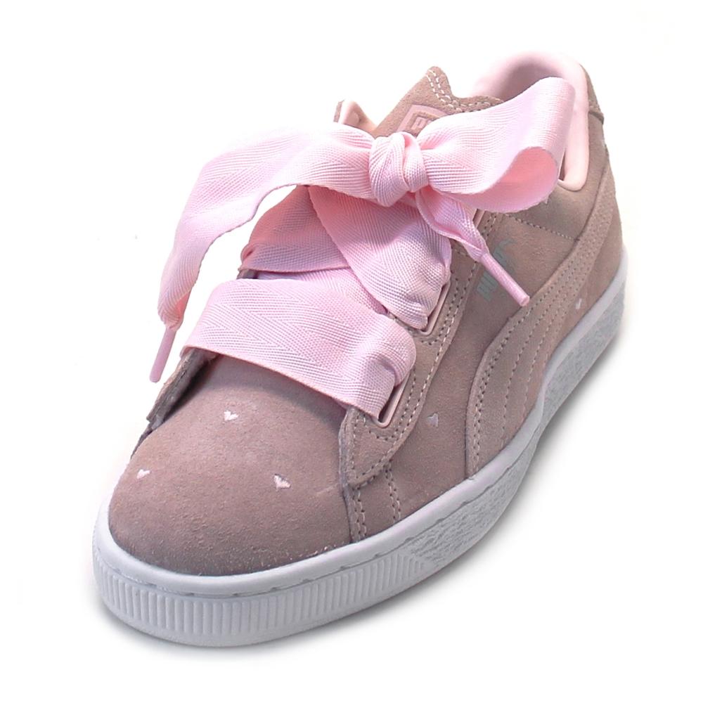 Puma Suede Heart Valentine Junior pearl/pearl