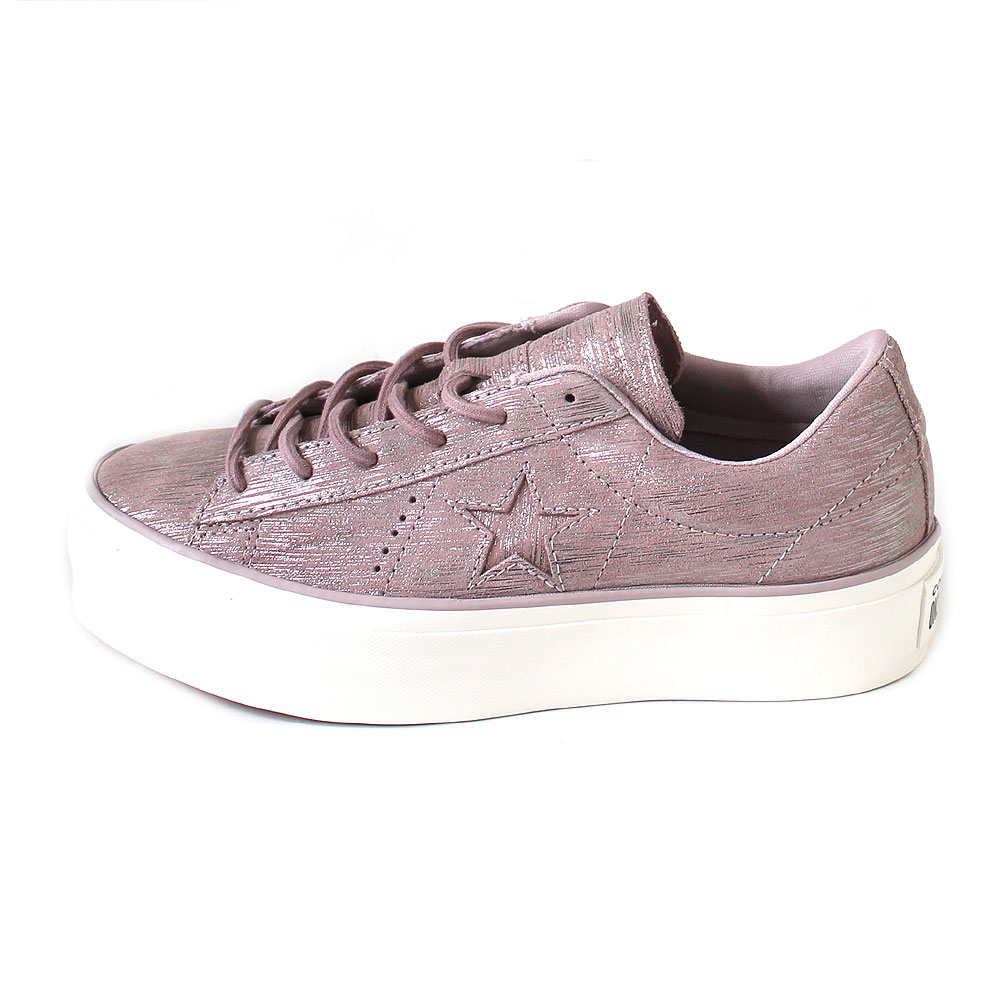 Converse One Star Platform Ox diffused taupesilveregret 14485